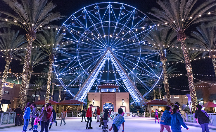 Irvine Spectrum Outdoor Skating Rink During the Holiday Season! Picture Credit: Irvine Spectrum Center Website